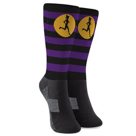 Running Printed Mid-Calf Socks - Witch Running