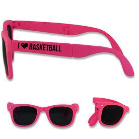 Foldable Basketball Sunglasses I Heart Basketball