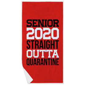 Premium Beach Towel - Senior 2020 Straight Outta Quarantine
