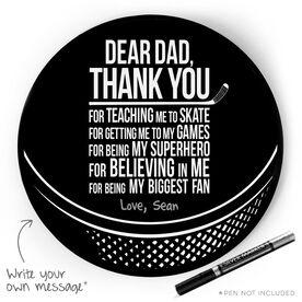 Hockey Circle Plaque - Dear Dad
