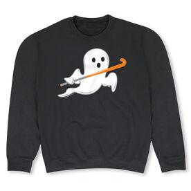 Field Hockey Crew Neck Sweatshirt - Field Hockey Ghost