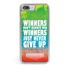 Baseball iPhone® Case - Winners Never Give Up