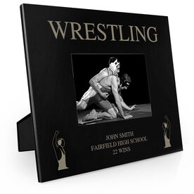Wrestling Engraved Picture Frame - Wrestlers Winning