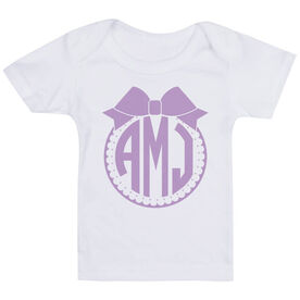 Personalized Baby T-Shirt - Monogram with Bow