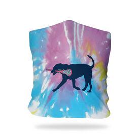 Girls Lacrosse Multifunctional Headwear - LuLa the Lax Dog Tie-Dye RokBAND