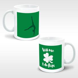 Gymnastics Coffee Mug Kiss Me I Do Flips