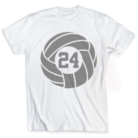 Vintage Volleyball T-Shirt - Custom Number