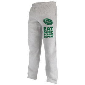 Rugby Fleece Sweatpants Eat Sleep Scrum Repeat