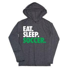 Women's Soccer Lightweight Hoodie -Eat Sleep Soccer
