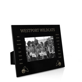 Cheerleading Engraved Picture Frame - Team Name With Roster