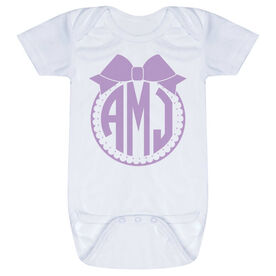 Personalized Baby One-Piece - Monogram with Bow