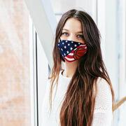 Basketball Face Mask - USA Flag