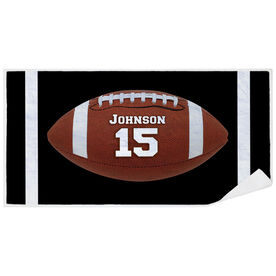 Football Premium Beach Towel - Personalized Big Number