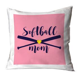 Softball Throw Pillow - Softball Mom