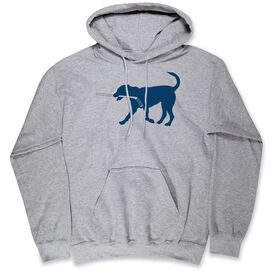 Hockey Hooded Sweatshirt - Rocky The Hockey Dog