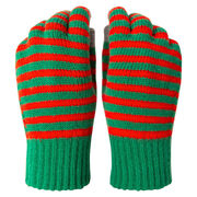 Gloves with Touchscreen Fingers - Christmas Stripe