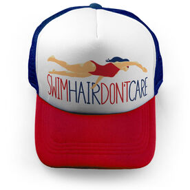 Swimming Trucker Hat - Swim Hair Don't Care