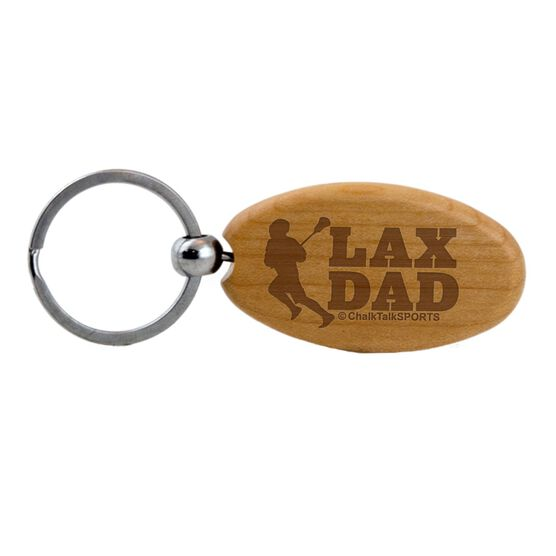 Lacrosse (Male Player) Dad Maple Key Chain