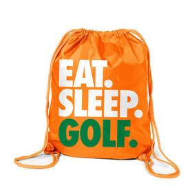 Golf Sport Pack Cinch Sack Eat. Sleep. Golf.