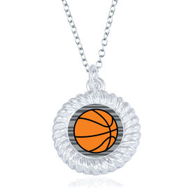 Basketball Braided Necklace - Ball