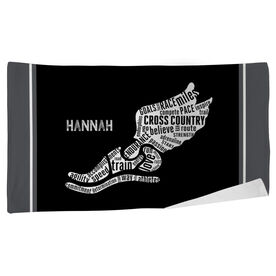 Cross Country Beach Towel Inspirational Words Winged Foot