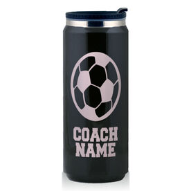 Stainless Steel Travel Mug Soccer Coach
