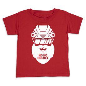 Hockey Toddler Short Sleeve Tee - Ho Ho Santa Face