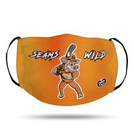 Seams Wild Baseball Face Mask - Spikes