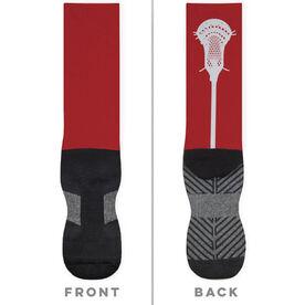 Guys Lacrosse Printed Mid-Calf Socks - Stick