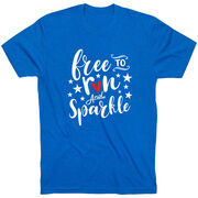 Running Short Sleeve T-Shirt - Free To Run And Sparkle