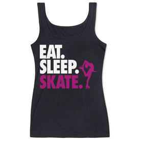 Figure Skating Women's Athletic Tank Top Eat. Sleep. Skate.