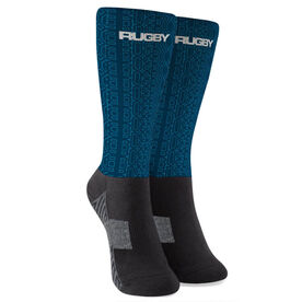 Rugby Printed Mid-Calf Socks - Repeat Pattern