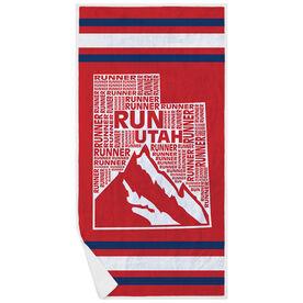 Running Premium Beach Towel - Utah State Runner