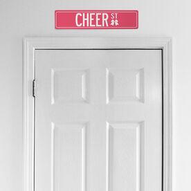 "Cheerleading Aluminum Room Sign - Cheer Street (4""x18"")"