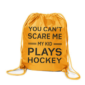 Hockey Sport Pack Cinch Sack - Can't Scare Me Hockey Dad