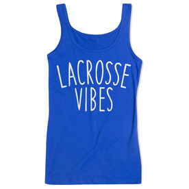 Girls Lacrosse Women's Athletic Tank Top - Lacrosse Vibes