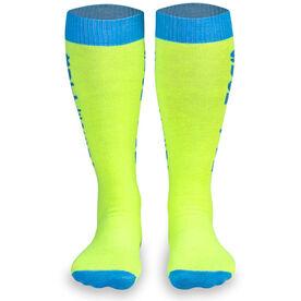 Woven Yakety Yak! Knee High Socks - Suck It Up Buttercup (Neon Yellow)