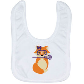 Girls Lacrosse Baby Bib - Lax Fox