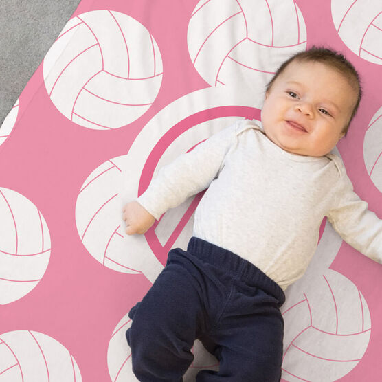 Volleyball Baby Blanket - Volleyball Pattern