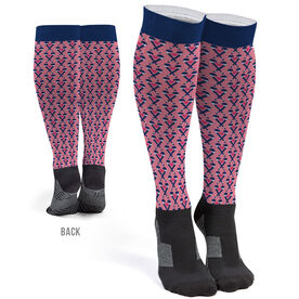 Field Hockey Printed Knee-High Socks - Field Hockey Hearts