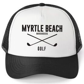 Golf Trucker Hat - Team Name With Text