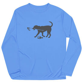 Skiing Long Sleeve Performance Tee - Sven The Ski Dog