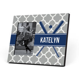Softball Photo Frame - Personalized Softball Bats Quatrefoil