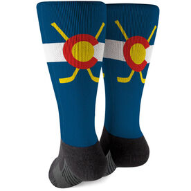 Hockey Printed Mid-Calf Socks - Colorado