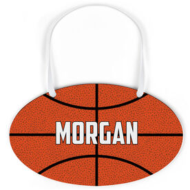 Basketball Oval Sign - Personalized Basketball Texture