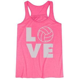 Volleyball Flowy Racerback Tank Top - Volleyball Love