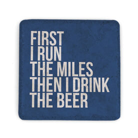 Running Stone Coaster - Then I Drink The Beer