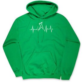 Softball Hooded Sweatshirt - Softball Heartbeat Batter