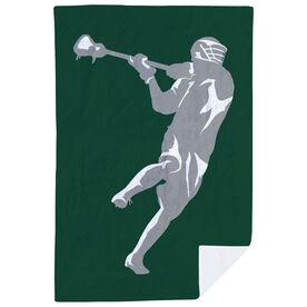 Guys Lacrosse Premium Blanket - Jump shot Player