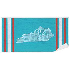 Running Premium Beach Towel - Kentucky State Runner